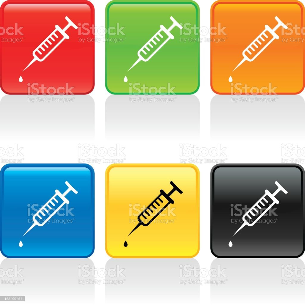 Syringe Icon royalty-free syringe icon stock vector art & more images of black color