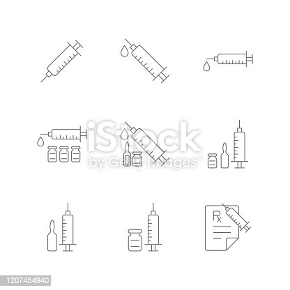 Syringe injection icon,vector illustration. EPS 10.