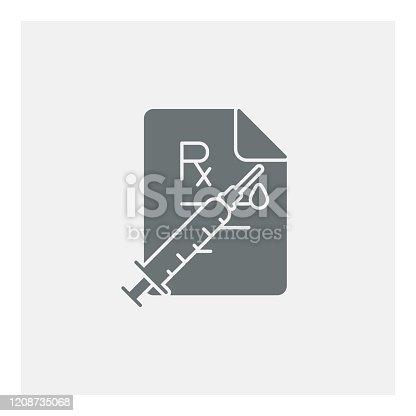 istock Syringe injection icon 1208735068