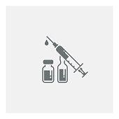Syringe injection icon,vector illustration. EPS 10.
