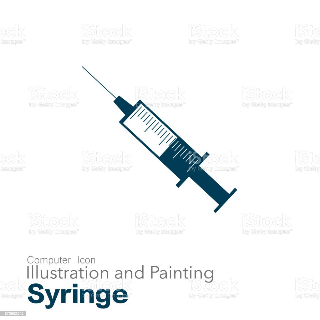 syringe vector art illustration