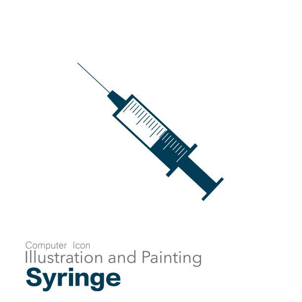 illustrazioni stock, clip art, cartoni animati e icone di tendenza di syringe - siringa