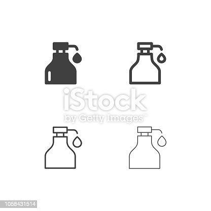 Syrup Bottle Icons Multi Series Vector EPS File.