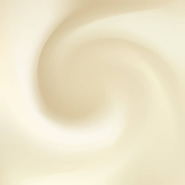 illustrazioni stock, clip art, cartoni animati e icone di tendenza di syrup, mayonnaise, yogurt, ice cream, condensed milk, whipped cream or fluid cheese with space for text. whirl light beige eddy surface. close up view. gradient mesh background - miele dolci