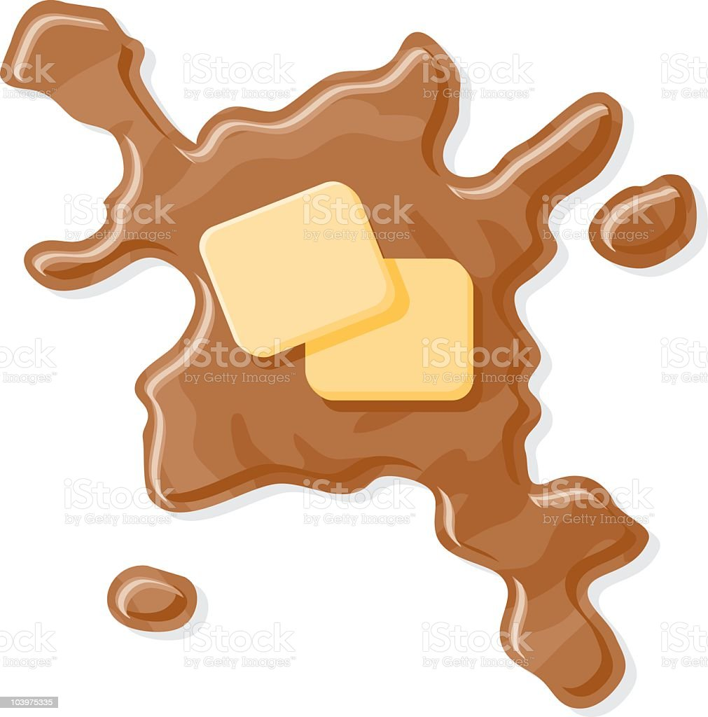 Syrup with Butter royalty-free stock vector art