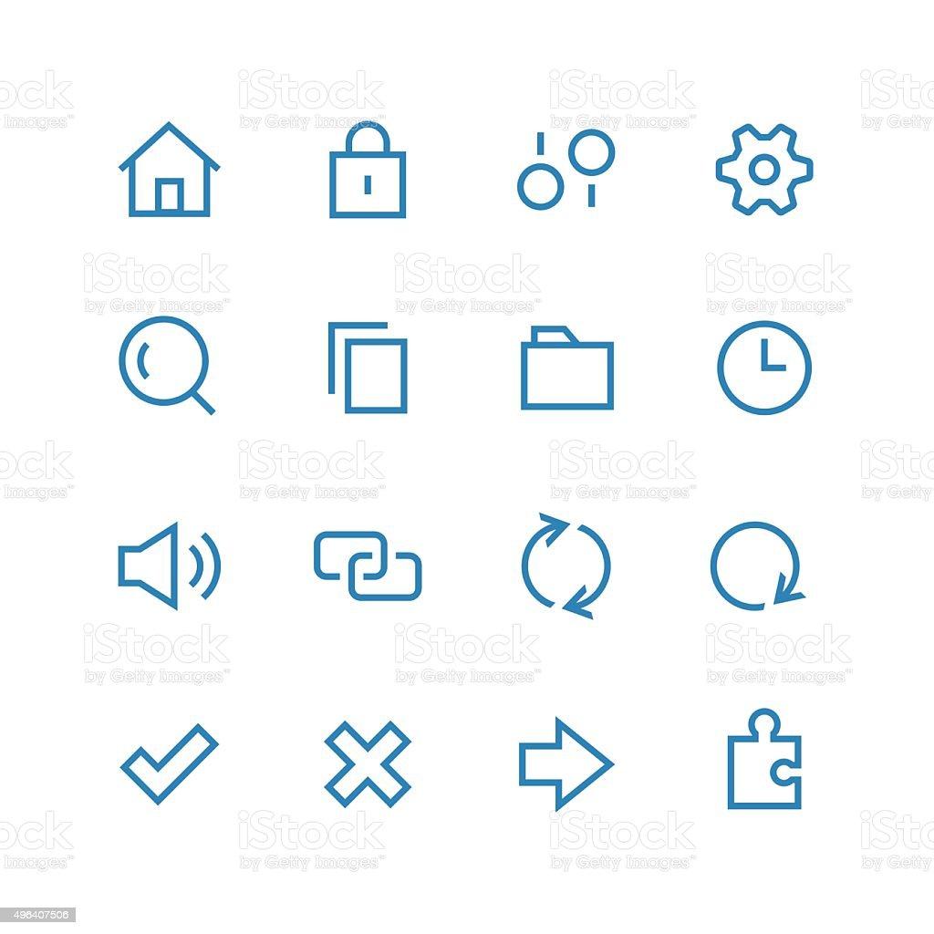 System icon set vector art illustration