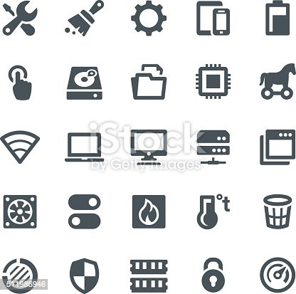 Computer icons, maintenance, icon, system, tools, hard drive, technology