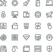 System Maintenance Icons
