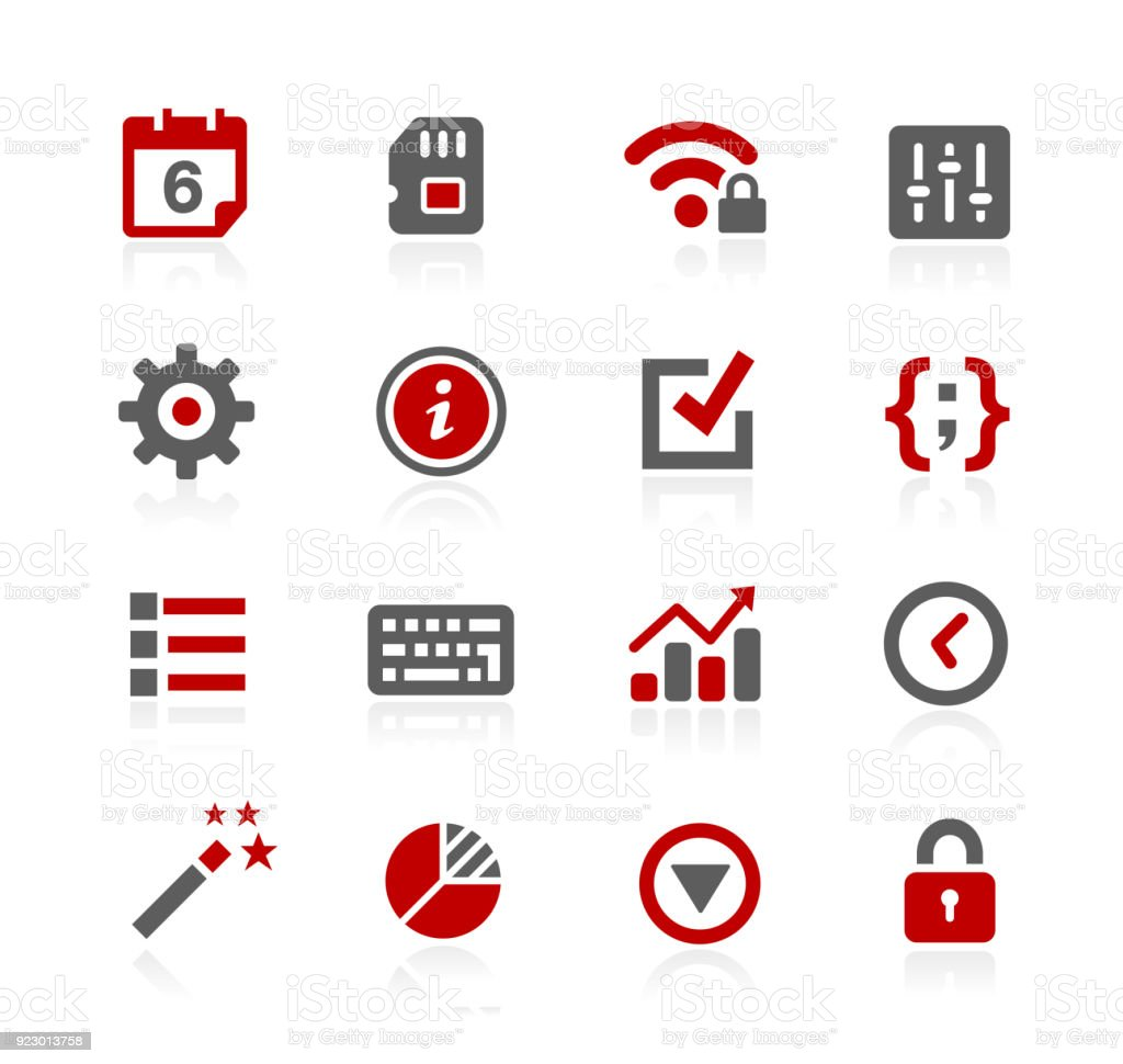 System Settings Interface Icons // Redico Series vector art illustration