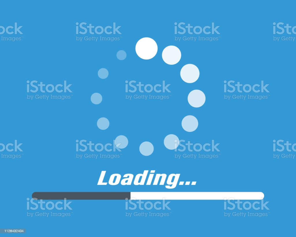 System Software Update And Upgrade Concept Loading Process Screen