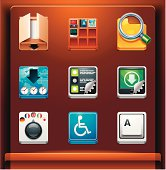 System tools. Mobile devices apps/services icons