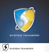 system transfer logo vector