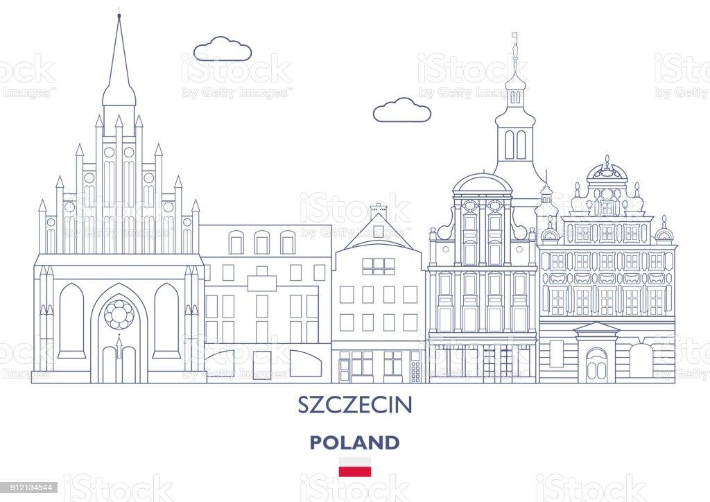 Szczecin City Skyline, Poland