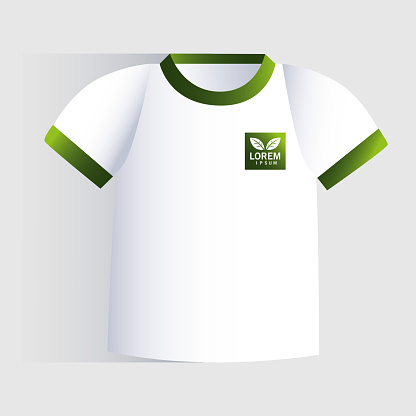t shirt, corporate identity template on white background