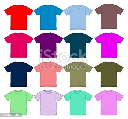 t shirt design template / mockup full colors for men, graphic vector illustration