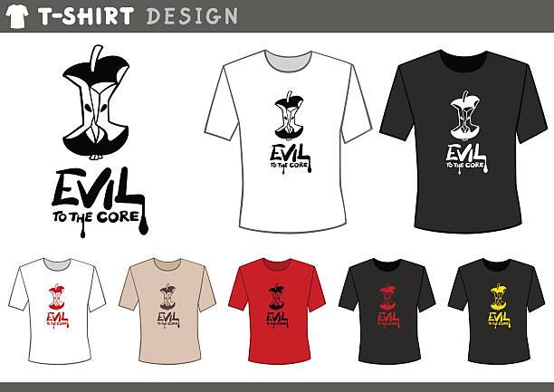 t shirt design with core - Illustration vectorielle