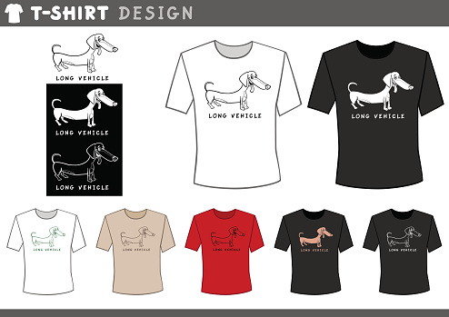 t shirt design with dachshund