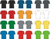 t shirt template collection