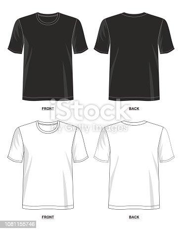 design vector t shirt template for men