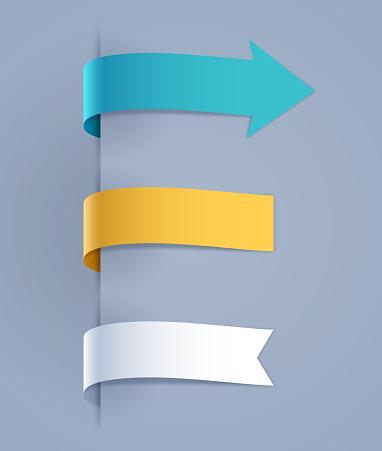 Tab Arrows Note Design Elements