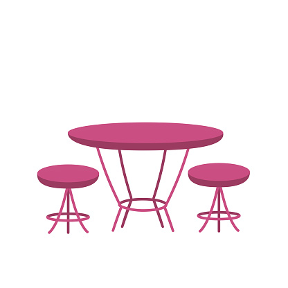 Table and chairs. Outdoor furniture for cafe, restaurant or home.