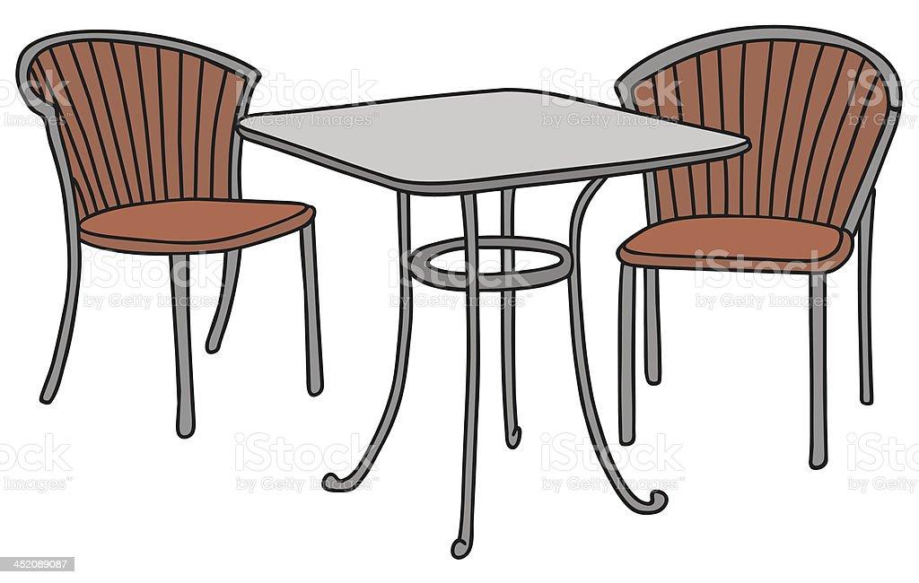 Tisch Und Stühle Stock Vektor Art Und Mehr Bilder Von Architektur