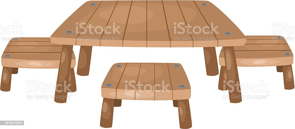 table and chairs. Vector royalty-free stock vector art