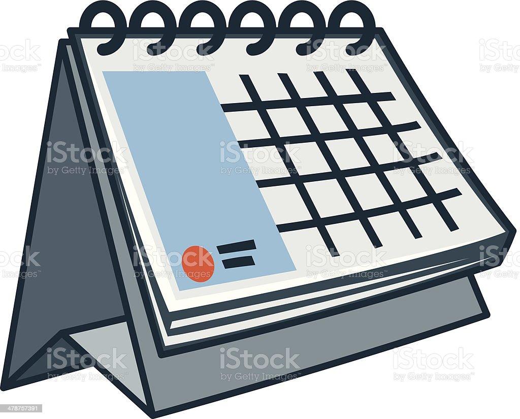 Calendar Drawing Cartoon : Table calendar icon in cartoon style stock vector art