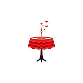 Table, candle, two, reserved, valentine's day icon. Element of color Valentine's Day. Premium quality graphic design icon. Signs and symbols collection icon for websit, web design