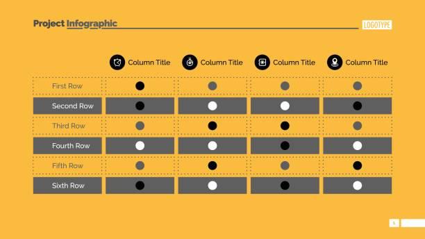 tabelle chart folie 2 - tischarrangements stock-grafiken, -clipart, -cartoons und -symbole