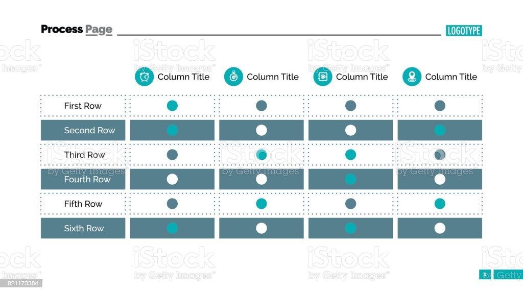 Diapositiva de tabla de tabla 2 - ilustración de arte vectorial