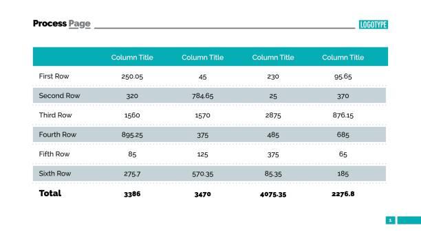 tabelle chart folie - tischarrangements stock-grafiken, -clipart, -cartoons und -symbole
