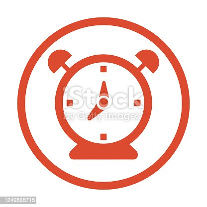 Pixel perfect Table clock, alarm, time management icon for commercial, print media, web or any type of design projects.