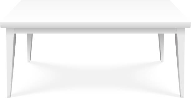 ilustrações, clipart, desenhos animados e ícones de tabela vazia plataforma carrinho isométrica parte superior da superfície isolada produto objeto apresentação modelo 3d design ilustração vetorial - mesa