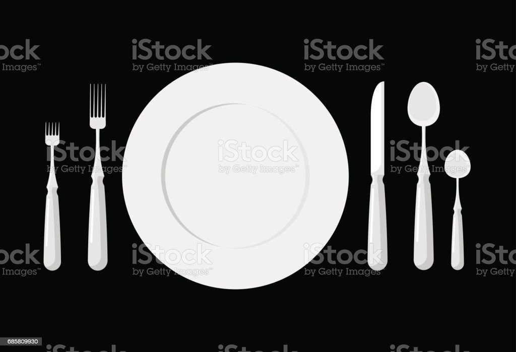 Table Etiquette Cutlery Forks Spoons And Knives Stock