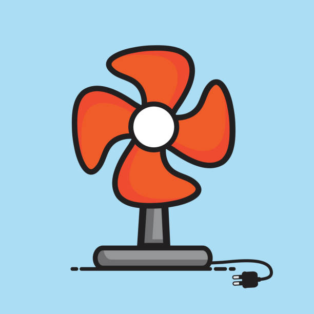 Cartoon Table Fans : Royalty free table fan clip art vector images
