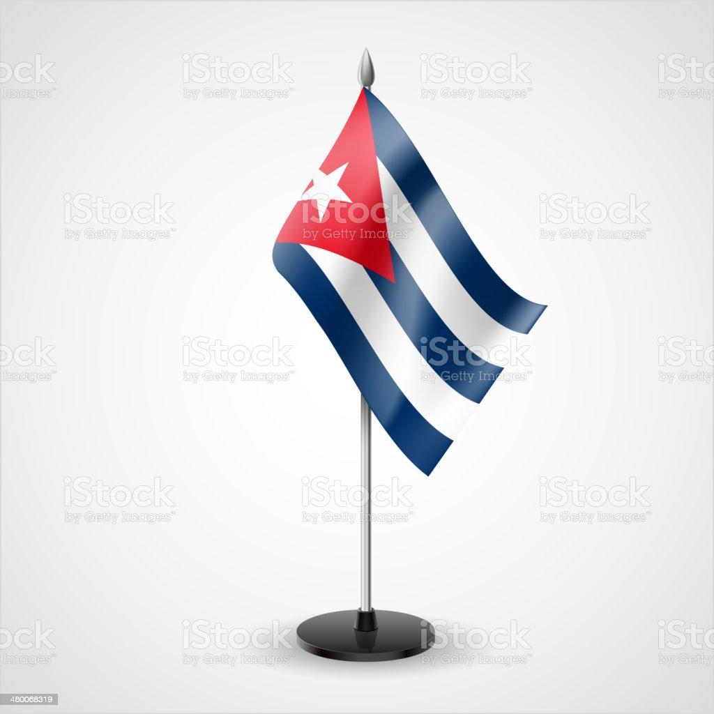 Tabla bandera de Cuba - ilustración de arte vectorial