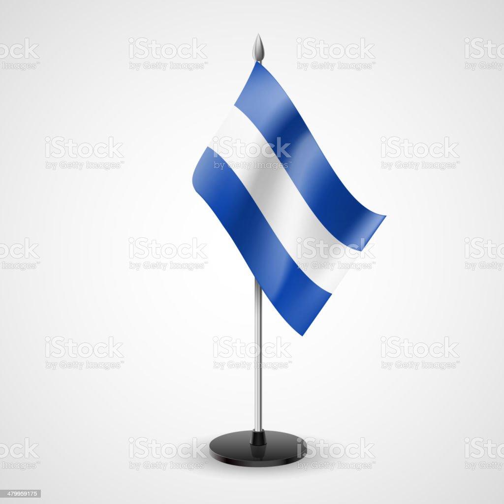 Table flag of El Salvador royalty-free table flag of el salvador stock vector art & more images of ambassador