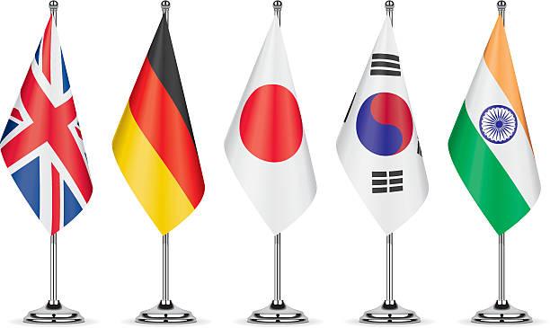 ilustraciones, imágenes clip art, dibujos animados e iconos de stock de tabla flags - bandera japonesa