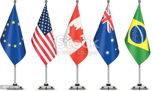 World table flags set 1. Simple gradient used.