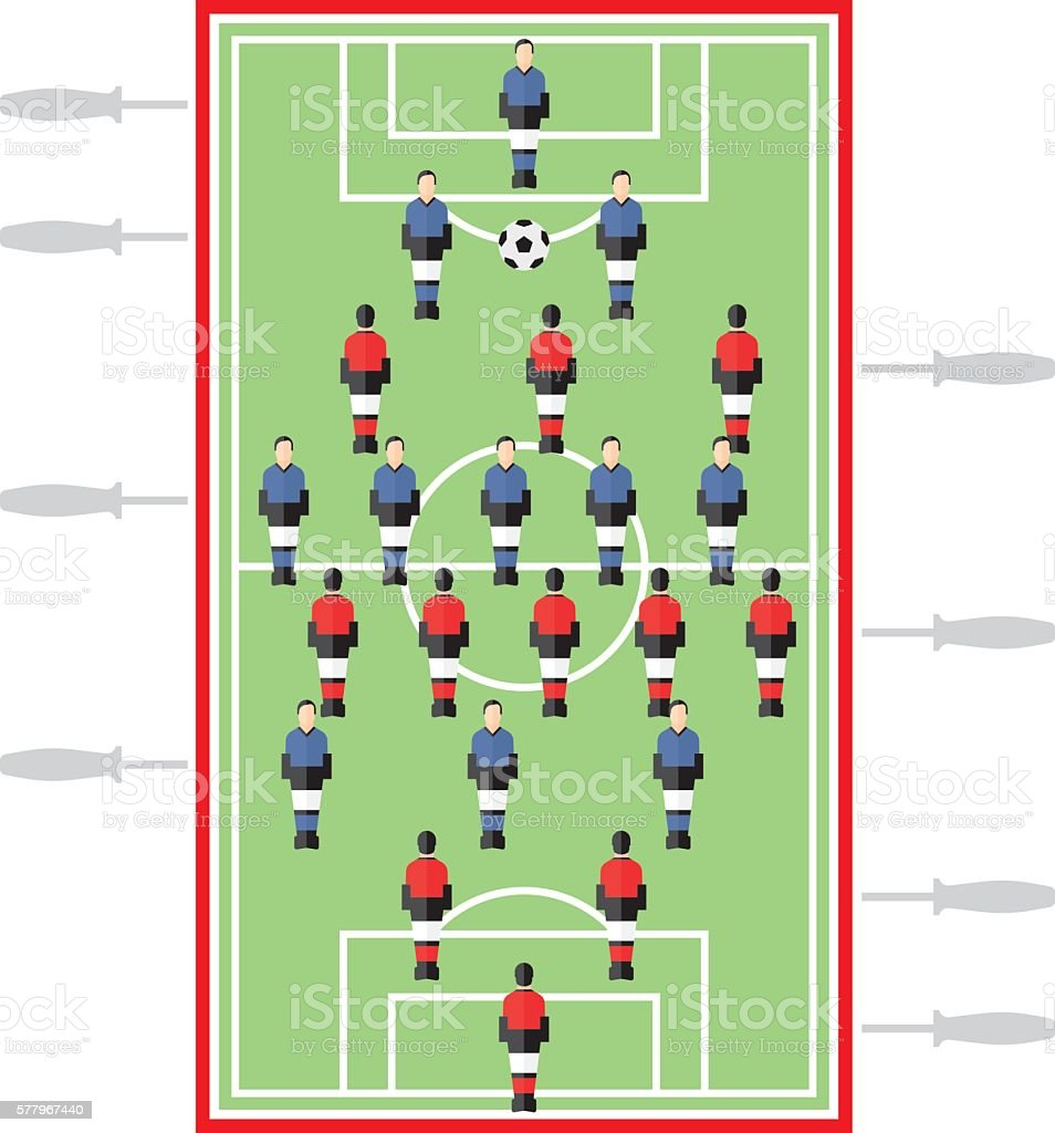 Table Joueur de Football - Illustration vectorielle