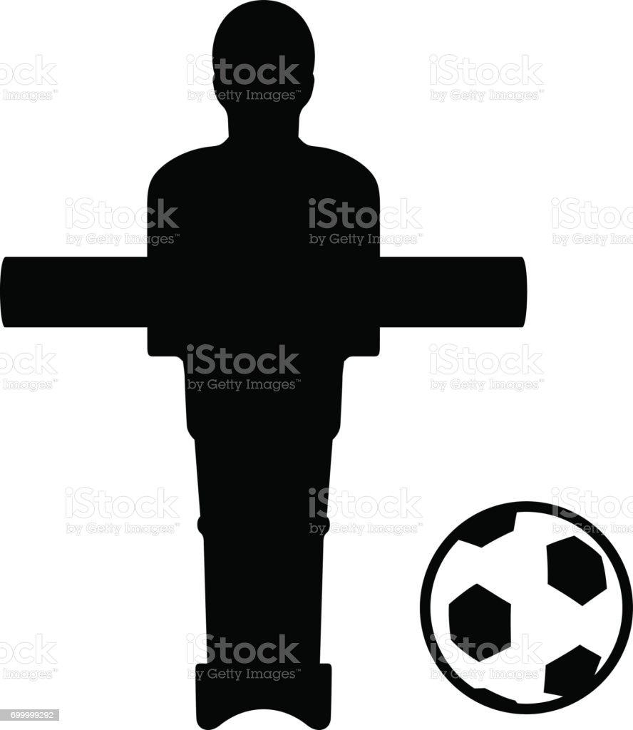Table Joueur de football - Illustration vectorielle