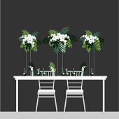 istock Table for bride and groom. Vector illustration. 1224304303