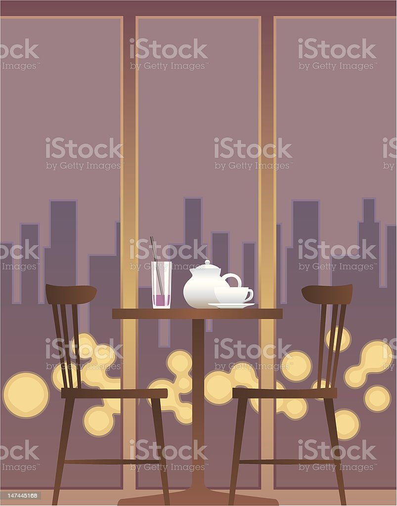 Table For Two vector art illustration
