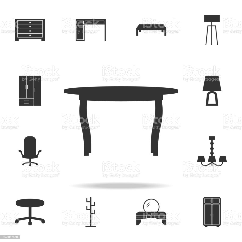 Table icon detailed set of furniture icons premium quality graphic design one of the collection icons for websites web design mobile app illustration