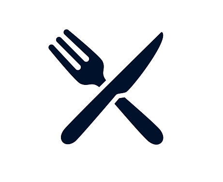 Table knife and fork vector illustration