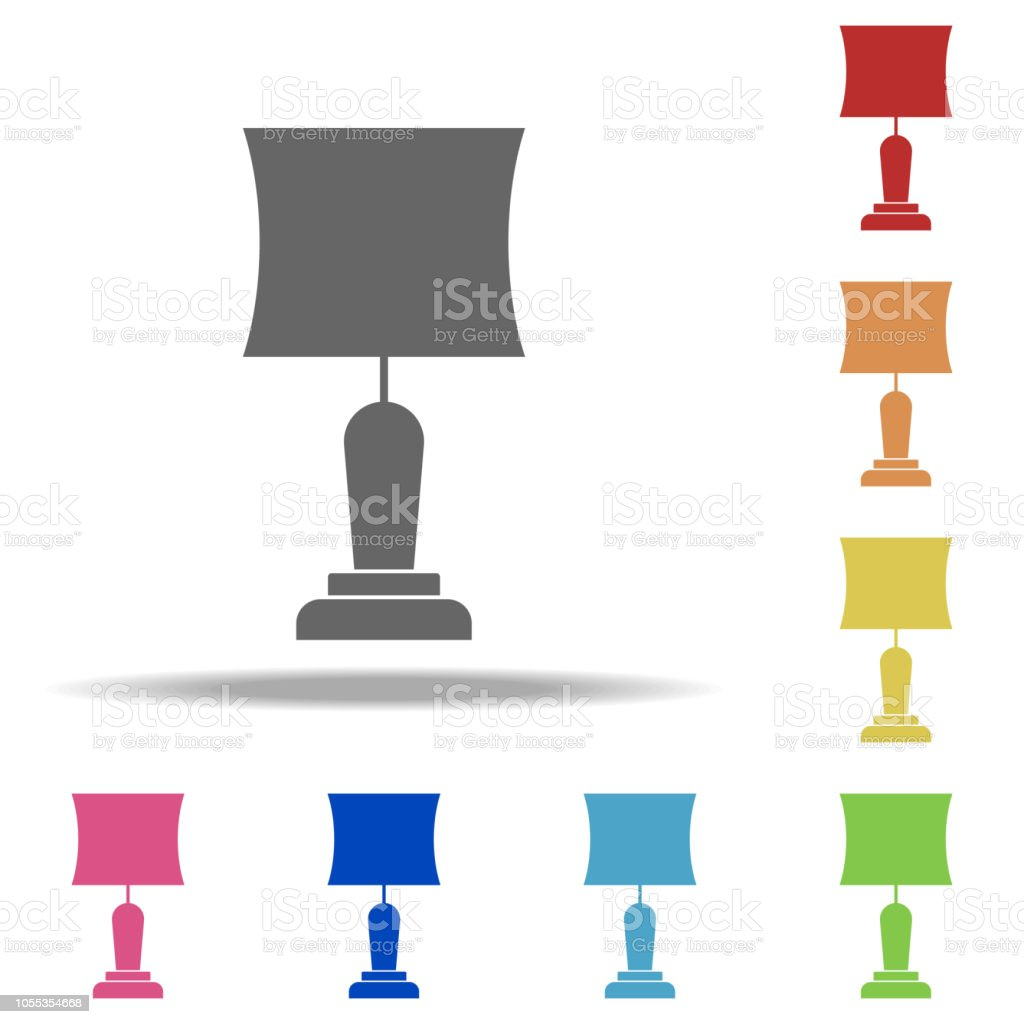 Table Lamp Icon. Elements Of Web In Multi Color Style Icons. Simple Icon  For Websites, Web Design, Mobile App, Info Graphics   Illustration .