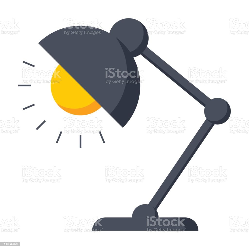 Royalty Free Desk Lamp Clip Art Vector Images: Table Lamp Icon Stock Vector Art & More Images Of Art