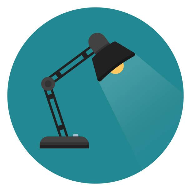 masa lambası ışık simgesi. - elektrik lambası stock illustrations