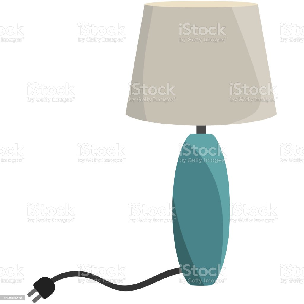 Table Lamp Light Illustration vector art illustration